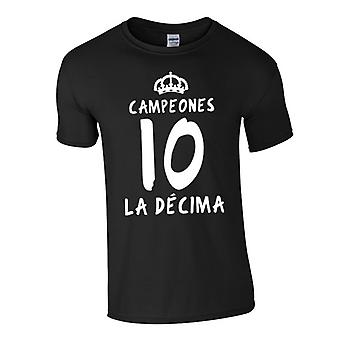 Real Madrid La Decima T-Shirt (schwarz)