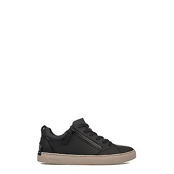 Crime London Herren 11320A17B20 Schwarz Leder Sneakers