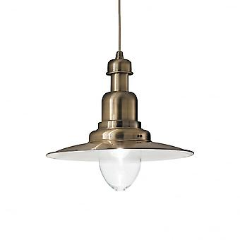 Ideal Lux Fiordi Traditional Bronze Fisherman Ceiling Pendant Light