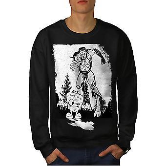 Monster Cool mænd BlackSweatshirt | Wellcoda