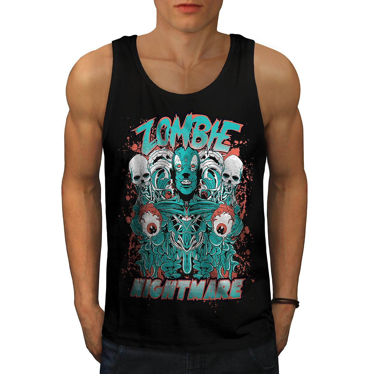 Nightmare Skeleton Men BlackTank Top | Wellcoda