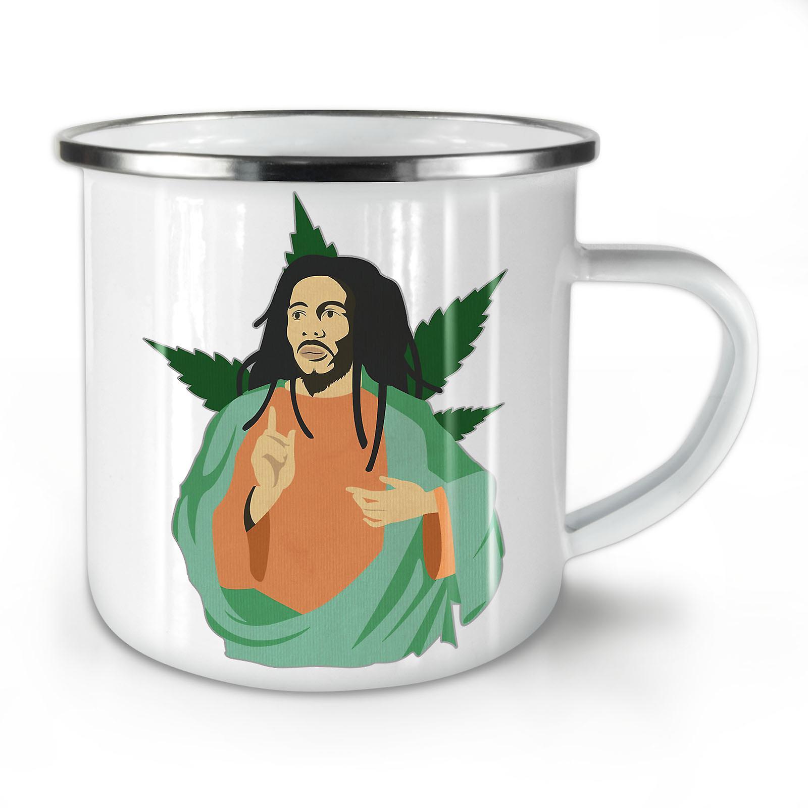 Nouveau Whitetea Émail Café Marley Dieu Mauvaises Herbes Mug10 OzWellcoda HD29WEI