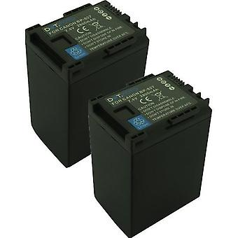 2 x Dot.Foto Canon BP-827 Replacement Battery - 7.4v / 2800mAh