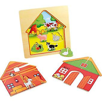 Legler Layered puzzle  Barn  (Babies and Children , Toys , Preschool , Puzzles And Blocs)