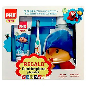 PHB Petit Pocoyo Pack Toothpaste + Brush + Gift Canteen