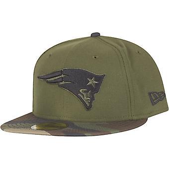 New Era 59Fifty Cap - New England Patriots wood camo