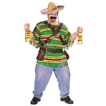 Tequila Poppin mec espagnol mexicain Gunslinger hommes Costume Plus