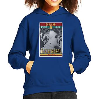 Sporting Legends Poster England Alf Ramsey The General 1966 World Cup Final Kid's Hooded Sweatshirt