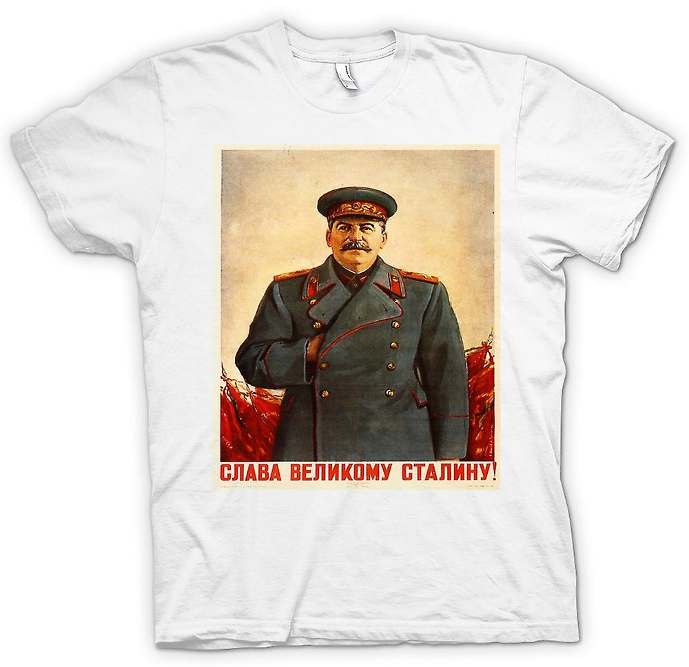 Mens T-shirt - Russian Propoganda Poster - Stalin