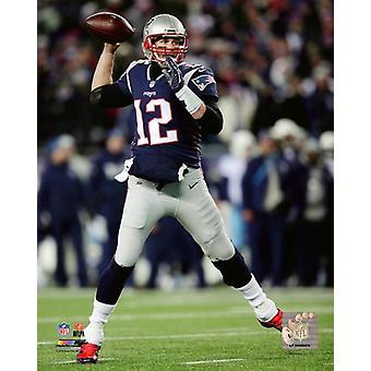 Tom Brady 2017 AFC Divisional Playoff Game Photo Print