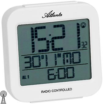 Atlanta 1809/0 alarm clock radio digital white light date thermometer digital alarm clock