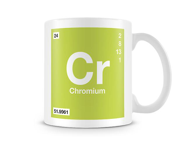 Element Symbol 024 Cr - Chromium Printed Mug