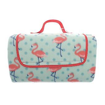 Country Club Family Size Picnic Blanket 150 x 200, Flamingo