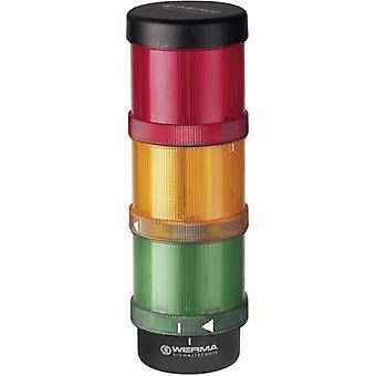 Torretta di segnalazione LED Werma Signaltechnik 64900001 rosso, giallo, verde, Non-stop segnale luminoso, lampeggiatore 24 V AC, 24 Vdc