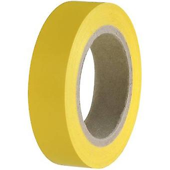 Electrical tape HelaTape Flex 15 Yellow (L x W) 10 m x 15 mm Hel