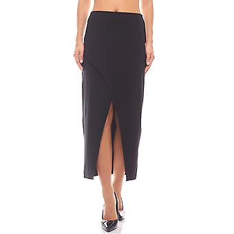 Tight asymmetrical skirt of high waist black rick cardona