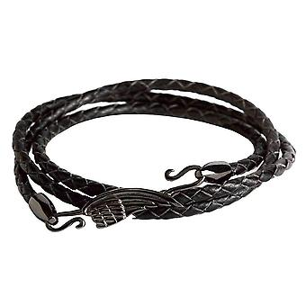 Simon Carter Gunmetal Wing Wrap Bracelet - Black/Grey