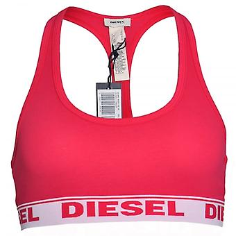 DIESEL Women Miley Cotton Bralette, Fuchsia, Large