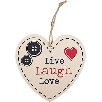 Something Different Live, Love, Laugh Hanging Heart Sign