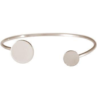 Gemshine - dames - bracelet - armband - zilver - ontwerp - circle - ronde - Scandi - minimalistische - geometrisch - ontwerp
