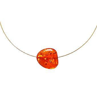 Gemshine - ladies - collana - ciondoli - oro placcato 45cm - arancione - giallo - ambra-