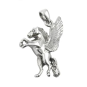 Silberner Anhänger PEGASUS Pferd mit Flügeln diamantiert Einhänger Silber 925