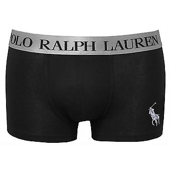 Polo Ralph Lauren Silver Branded Classic Boxer Trunk, Black