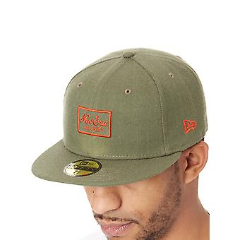 New Era Heather Army-Orange Heather 59Fifty New Fitted Cap