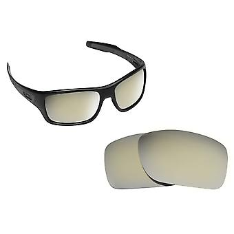 Best SEEK Polarized Replacement Lenses for Oakley TURBINE Silver Mirror