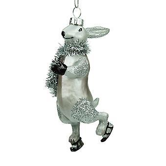 Gisela Graham Glass Hare Collectable Christmas Range