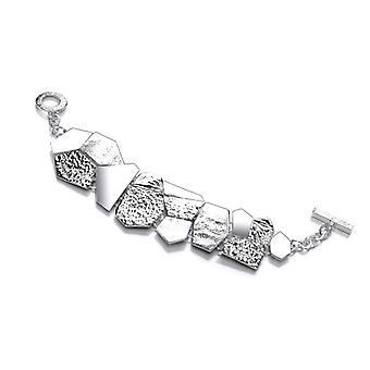 Cavendish franska Silver geometriska Jigsaw armband