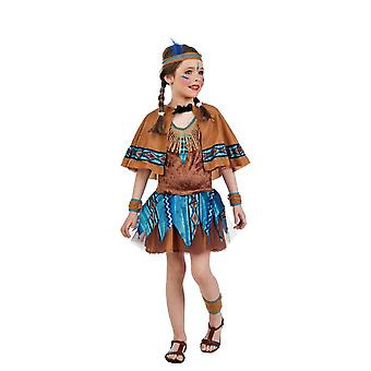 Costume indiano Mädchkostüm Squaw Prairie ragazza bambino