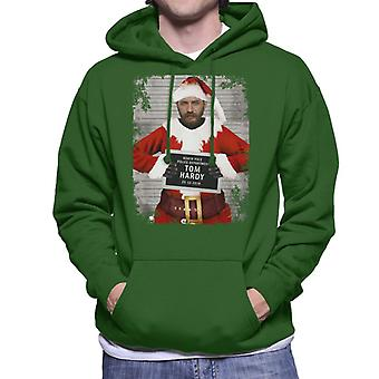 Christmas Mugshot Tom Hardy Men's Hooded Sweatshirt