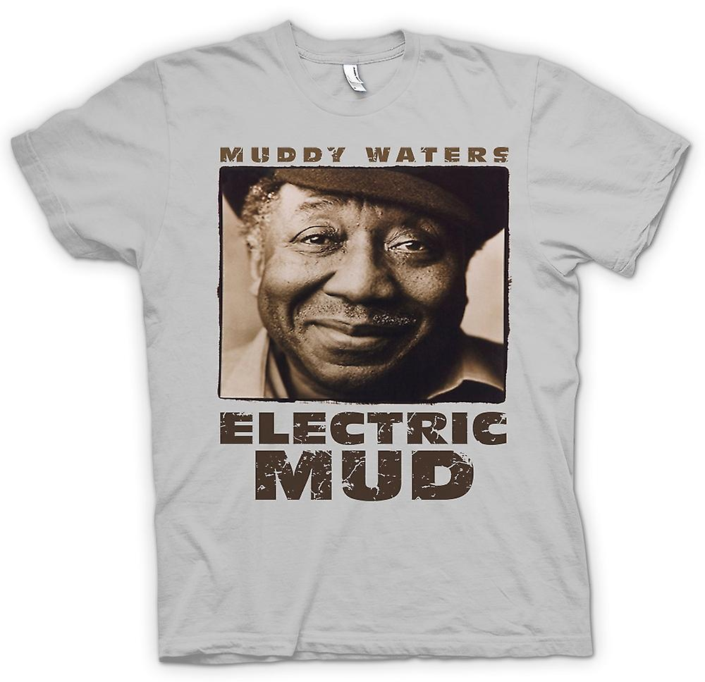 Mens T-shirt - Muddy Waters Electric Mud Blues - Guitar - Icoon