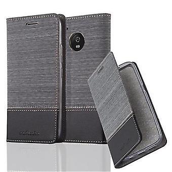 Caso Cadorabo para Motorola MOTO G5 - caso móvel com função de suporte e compartimento no design da tela - capa case luva bolsa saco livro