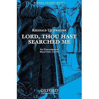 Lord, thou hast searched me: Vocal score