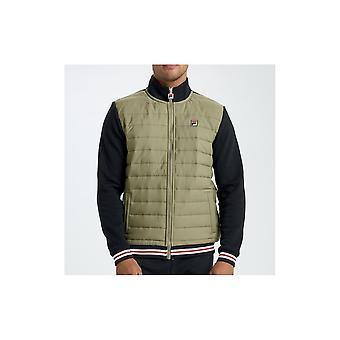 Fila Trev Jacket In Dry Grass & Black