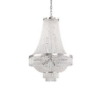 Ideal Lux - Augustus Gold Finish Twelve Light Chandelier With Crystal Beads IDL113197