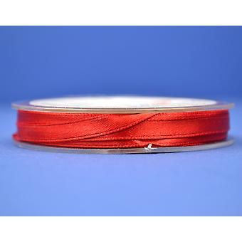 7mm Christmas Red Polyester Satin Craft Ribbon - 10m | Ribbons & Bows for Crafts