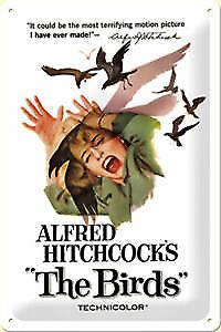 Alfred Hitchcock's The Birds embossed steel sign 2030