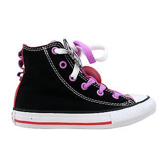 Converse Chuck Taylor All Star Loopholes Hi Black/Ultra Red-White 656046F Pre-School