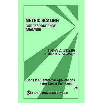 Metriska skalning korrespondens analys av Weller & Susan C.