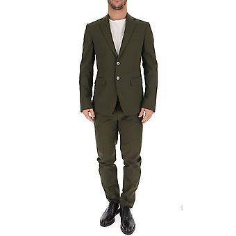 Dsquared2 Green Cotton Suit