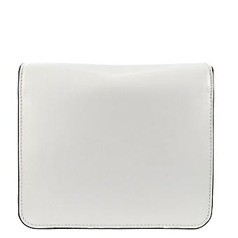 Ash SOPHIE BIS Mini Crossbody Bag White Leather & Silver Pearls