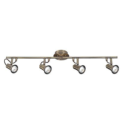 Searchlight 1224AB Eros Traditional Antique 4 X GU10 Halogenlight Bar