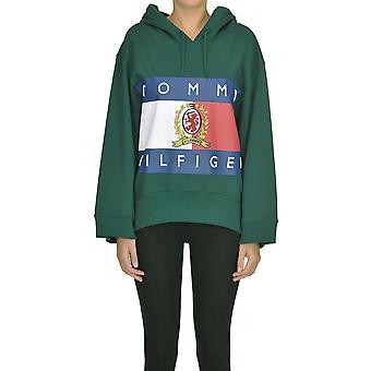 Tommy Hilfiger Green Cotton Sweatshirt