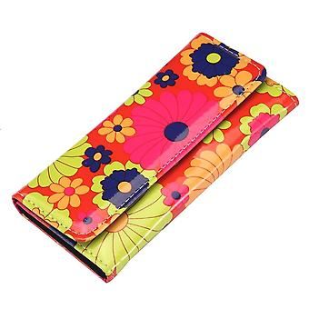 Retro Flower Power Folding Clutch Purse