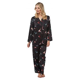 Camille Camille Womens Printed Long Sleeve Pyjama Set