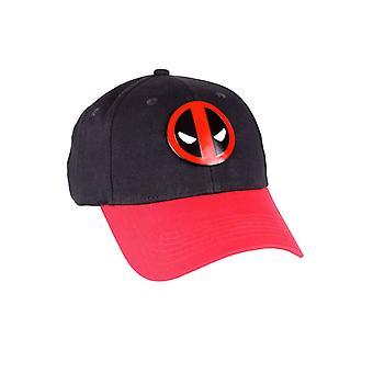 Deadpool Baseball Cap Metal Face Logo new Official Marvel Black Strapback