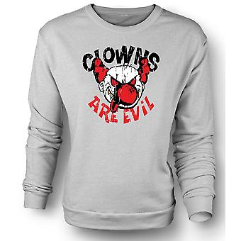 Mens Sweatshirt Clowns Are Evil - Funny
